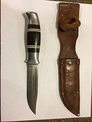 Vtg CARRY-LITE Norwegian Made NORWAY Rare HUNTING KNIFE Leather Sheath...case