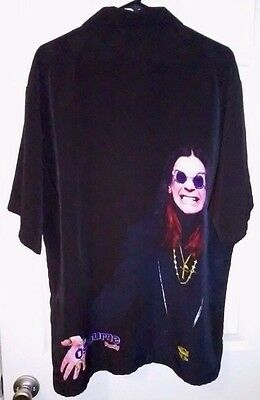 THE OSBOURNE FAMILY Ozzy button down shirt EXTRA LARGE 2002 Dragonfly Clothing