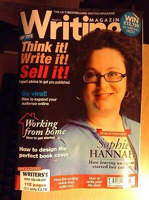 Writing Magazine March 2013 with Sophie Hannah