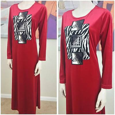 Vintage Coco Bay long Sleeve Night Gown size Small
