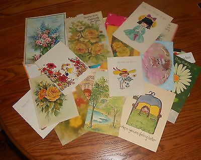 Lot of 46 Vintage Greeting Cards Used Birthday Get Well Fathers Day Mom