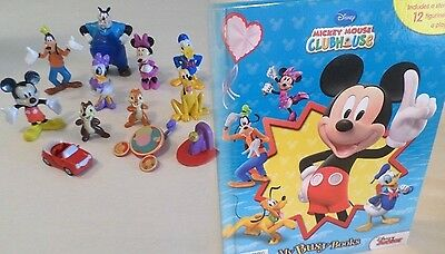 NEW Mickey Mouse Clubhouse*Toy Figure Lot+Book Playset PVC Figurines Play Set