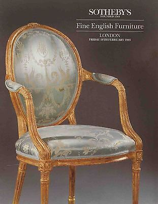 Sotheby's Fine English Furniture 1993 London auction catalog , 213 lots LIKE NEW