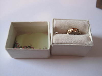 Antique Embossed Baby Ring  Thick...patterned.,.10 Kt. With Antique Box
