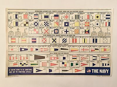 Vintage Us Navy 1969 Flags Poster By All Hands Magazine Bureau Of Personnel