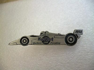 Hard Rock Cafe Pins - SURFERS PARADISE HOT 1998 PEWTER INDY RACE CAR PIN!