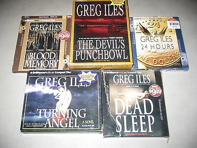 Lot of 5 Best-Selling Books on CD by Greg Iles, Devil's Punchbowl, 24 Hours ++