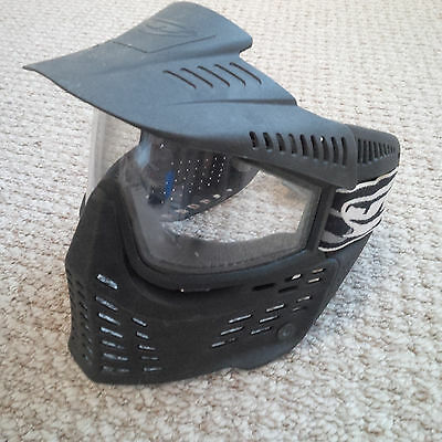 JT Flex Spectra Pro-Shield Paintball / Airsoft Mask - Black, ClearThermal Lense