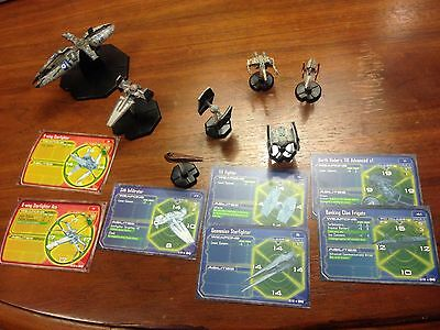Star Wars Battles Space Ship lot Banking Clan Frigate, Sith Tie Fighter & more