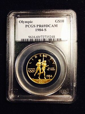 1984-S USA $10 Olympic Gold Coin - Commemorative PCGS certified PR69 DCAM -NICE!