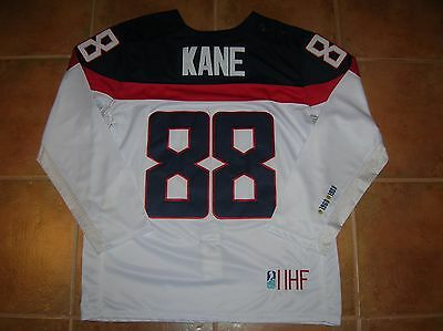 #88 Patrick KANE Team USA Official/AUTHENTIC IIHF NIKE Jersey, Size Men's L