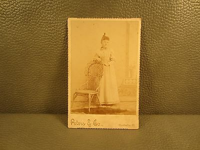 Victorian Antique Cabinet Card Photo Young Woman ......FREE SHIPPING