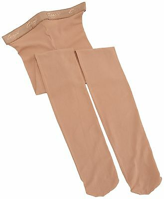 Capezio Girls' Hold & Stretch Footed Tight Suntan Large / 12-14