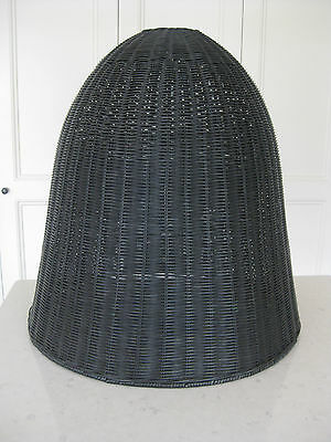 Black Rattan Wicker Pendant Light LARGE SHADE ONLY by THE FAMILY LOVE TREE 60CM