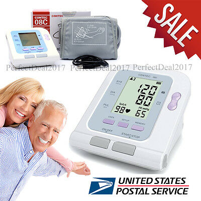 LCD Digital upper Blood Pressure Monitors meter Automatic Monitor+software,USA