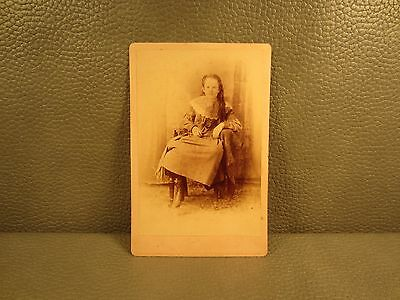 Victorian Antique Cabinet Card Photo of Young Girl ......FREE SHIPPING