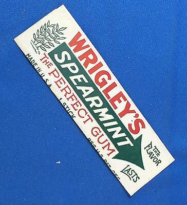 Vintage Original WRIGLEY'S SPEARMINT Chewing GUM Wrapper