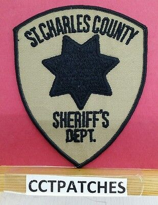 St Charles County, Missouri Sheriff Tan (Police) Shoulder Patch Mo