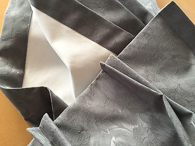 Full Block-Out Pair of Curtains in Dolphin Grey Custom Made.