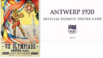 24 x 1896-2000 OFFICIAL AOC OLYMPIC POSTER CARDS (complete set, no album)