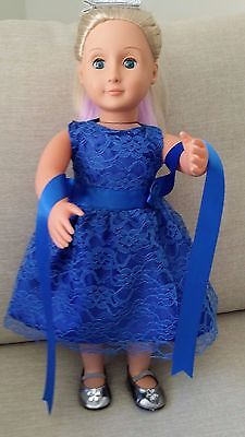 """American Girl Gotz Our Generation Journey 18"""" Inch Doll's Clothes Party Dress"""