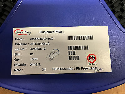 1000 X AP1501K5LA Voltage Regulators - Switching Regulators AdjV 3.0A