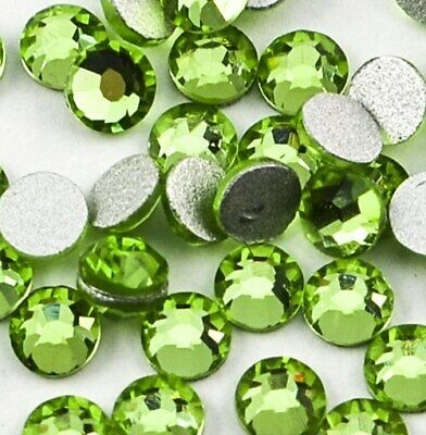 Light Green Glass Crystals Flatback Nail Art Rhinestones (100PCS) - Available...