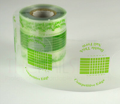 Double Thick Clear Strong UV Gel Nail Forms - 200PCS Per Roll