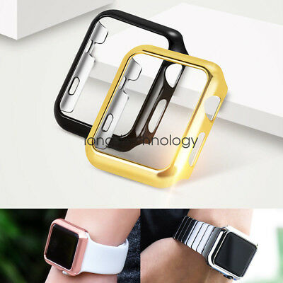 PC Plated Protective Case Cover For Apple Watch Series 4 3 2 iWatch 44mm 42mm