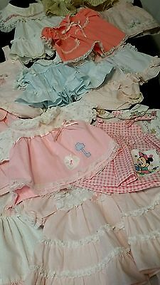 VIntage Lot Of 21 Pieces Infant Girl Clothing Sz 0-6 Months