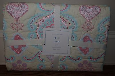 NWT Pottery Barn Kids Claudia yellow toddler nursery crib quilt