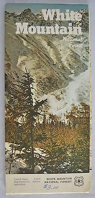 Vintage 1984 White Mountain National Forest Map New Hampshire Maine Excellent
