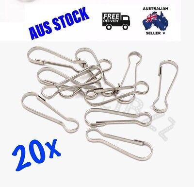20x Metal Lanyard Key Chain Clip Hooks Clasp Ring Connectors Carabiner 28mm
