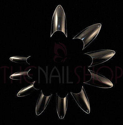 European Cusp Oval French Well-less Nail Tips - Clear (Box of 500)