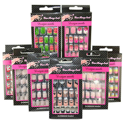 Kids Manicure Party Nail Tips (24PCS, 10 Sizes) - VARIETY PACK (8 DESIGNS)