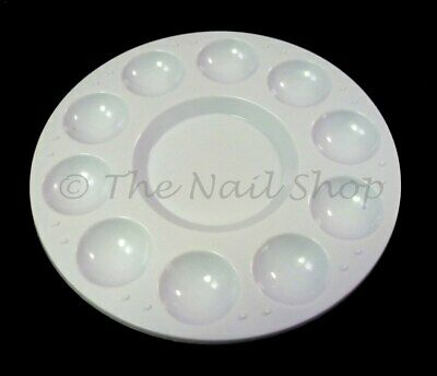 White Plastic Gel & Paint Mixing Tray Palette - Great for Nail Art!