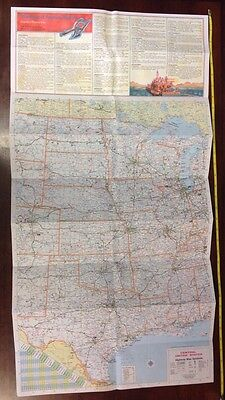 Vintage 1976 Central United States Amoco Bicentennial Commemorative Road Map
