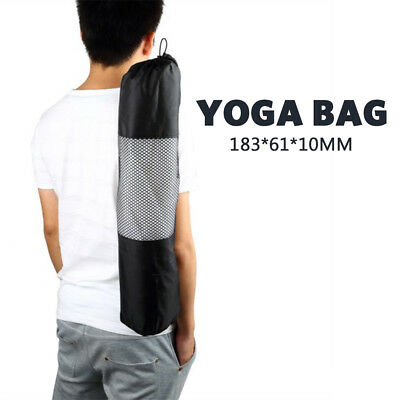 Travel Portable Yoga Mat Carry Bag Mesh Adjustable Strap Nylon Carrier New