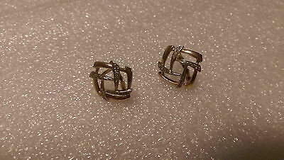 585,14 ct., Russian Rose Gold: ear-rings with synthetic stones = 6.05 gr.