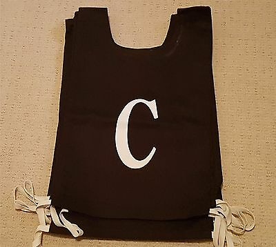NETBALL BIBS – Full Set Black & White in Excellent Condition (Large)
