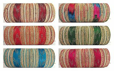 Indian Traditional Bollywood Bridal Ethnic Party Fashion Jewelry Metal Bangles