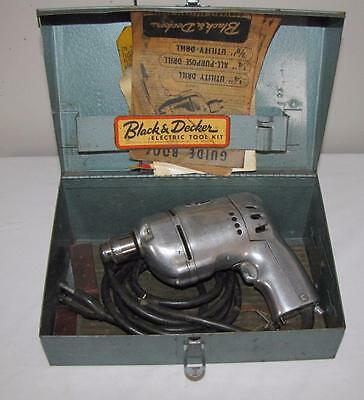 "Vintage Black & Decker 1/4"" Utility Drill Kit"