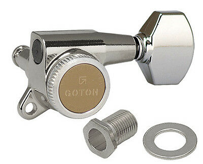 Gotoh SG381-07C-MGT Guitar Tuners Chrome 6L - Rear Locking - Made in Japan