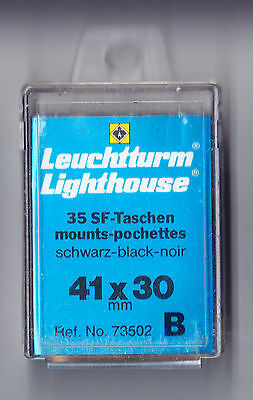 Hawid style 35 black Mount-pouchettes BY LIGHTHOUSE - 41 x 30mm