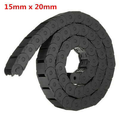 [NEW] 15mm x 20mm R28 Plastic Cable Semi-closed Drag Chain Wire Carrier Length 1