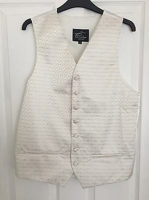 3x Medium Ivory Wedding Waistcoats (groom,best man, Usher) From Debenhams