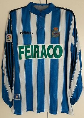 Deportivo La Coruna Match Worn Shirt Martinez Spanish Liga Lfp Old Model