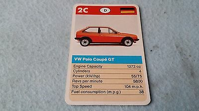 VW Polo Coupe GT Original Top Trump Card Free Postage Collectible