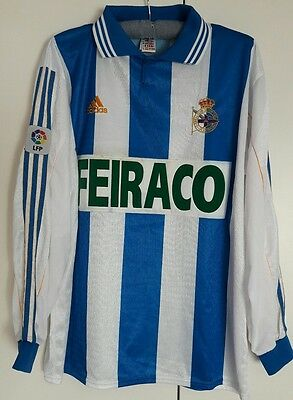 Deportivo La Coruna Match Worn Shirt Hadji Spanish Liga Lfp Old Model