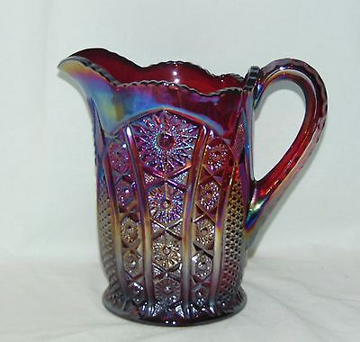"Indiana HEIRLOOM RED CARNIVAL *7 1/2"" PITCHER*"